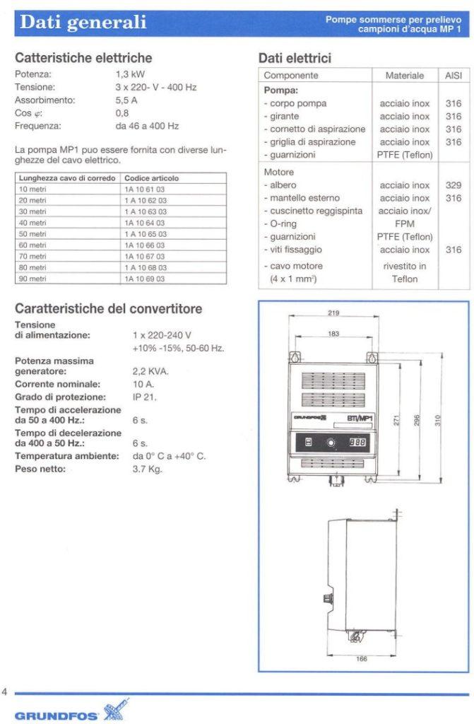 Carsico Srl - pompa sommersa per il prelievo di campioni d'acqua MP1